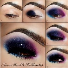 A super out of this world galactic eye. Get the lowdown on how to master this beauty with a 5 step pictorial.