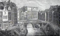 Antique print Utrecht Holland / canal 1884