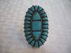 Huge ZUNI Signed ALICE QUAM Sterling Silver & by TurquoiseKachina, $479.10