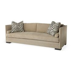 """Check out this item at One Kings Lane! Dunsmier 94"""" Tailored Sofa, Khaki"""