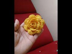 Rosa tejida en crochet - YouTube