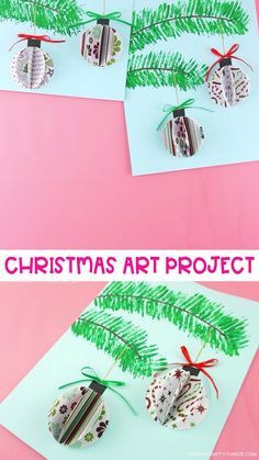 christmas crafts videos This beautiful paper ornaments craft project is simple for kids to make and it makes a stunning Christmas decoration. Fun Christmas craft for kids and adults! Christmas Art Projects, Paper Christmas Ornaments, Christmas Crafts For Adults, 3d Christmas, Christmas Ornament Crafts, Christmas Activities, Holiday Crafts, Craft Projects, Christmas Decorations