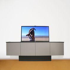TV Dressoir op maat met lift Rail Plafond, Smart Furniture, Home Bedroom, Tvs, Sweet Home, Decorations, Interior, Kitchen, Home Decor