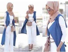 soha mt hijab style- Casual chic hijab 2016 www. Hijab Casual, Hijab Outfit, Hijab Chic, Women's Casual, Islamic Fashion, Muslim Fashion, Muslim Girls, Muslim Women, Vetement Hippie Chic