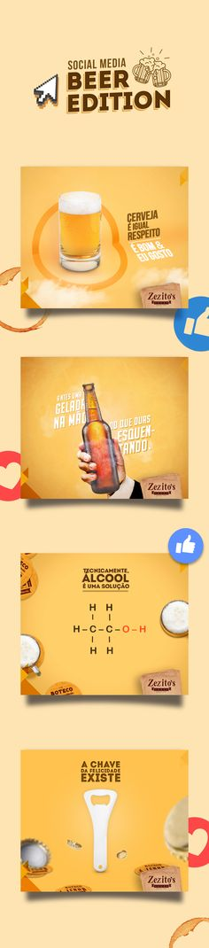 Social Media | Beer Edition on Behance Social Media Art, Social Media Template, Social Media Graphics, Social Media Marketing, Web Design, Social Media Design, Food Poster Design, Beer Art, Creative Advertising