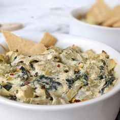 Healthy Hot Spinach Artichoke Dip | Hayl's Kitchen Game Day Appetizers, Best Appetizers, Healthy Spinach Artichoke Dip, Hard Bread, Spinach Tortilla, Low Fat Cream Cheese, Casserole Dishes, Dips, Snack Recipes