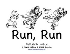 """Run, Run"" Sight Word Reader for Goldilocks and the 3 Bears (free)"