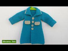 Abrigo (tapado) para niña bebé. Tejido con dos agujas # 445 - YouTube