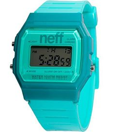 Neff Flava XL Digital Surf Watch - Turquoise