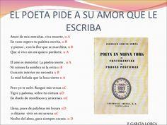 """18/06 -El Poeta Pide a su Amor que le Escriba, Federico García Lorca - """"El aire es inmortal. La piedra inerte/ ni conoce la sombra ni la evita./ Corazón interior no necesita/ la miel helada que la luna vierte."""""""