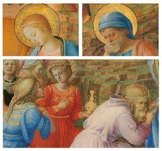 Fra Angelico, Fra Filippo Lippi, The Adoration of the Magi, c. 1440/1460 Fra Angelico, Figurative, Painting, Art, Art Background, Painting Art, Paintings, Kunst, Drawings