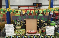 Tmnt dessert table. A lot of work, but much appreciated. They only turn 1 once right!!?!