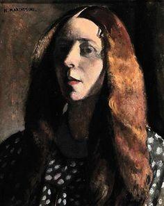 Study of a girl (self portrait)...Nella Marchesini (1901 - 1953)
