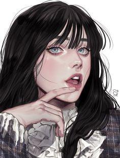 Anime Art Girl, Manga Art, Dark Anime Girl, Pretty Art, Cute Art, Aesthetic Art, Aesthetic Anime, Character Inspiration, Character Art