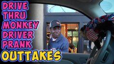 Drive Thru Monkey Driver Prank Outtakes
