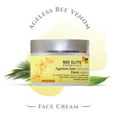 Ageless Bee Venom Face Cream - 1.77 oz | 50 gm - Bee Elite Essentials Ageless Cream, Venom Face, Rosehip Seed Oil, Acai Berry, Vitamin C Serum, Best Anti Aging, Face Serum, Skin Brightening, Freckles