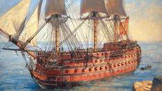El Santísima Trinidad, buque insignia de la Armada Española a finales del XVIII. España perdió más de 30 barcos mientras ayudaba a la independencia de EE.UU.
