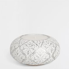Witte terracotta kaarshouder