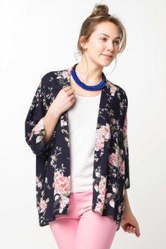 Gömlek - Desenli Kimono