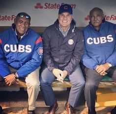 Fergie, Ryne and Billy. Chicago Cubs History, Cubs Team, Only Getting Better, Cubs Win, Go Cubs Go, Chicago Cubs Baseball, Wrigley Field, Three Boys