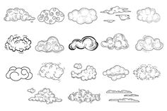 Hand Drawn Cloud Set by TopVectors on Creative Market - Niche World Shares Graffiti Drawing, Graffiti Lettering, Graffiti Art, Graffiti Alphabet, Typography Poster, Typography Design, Cloud Tattoos, Tatoos, Doodle Drawings