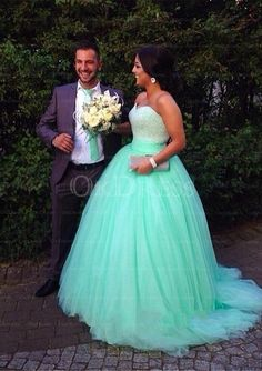 Luxuriant Ball Gown Tulle Prom Dresses - by OKDress UK