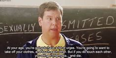 This is the funniest part in all of Mean Girls. If you haven't watched the movie, it is a must see. STD's are very common nowadays.