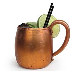 The Moscow Mule:  2 oz. vodka  1 tbsp lime juice  ginger beer  (vodka and lime over ice in chilled glass, fill with ginger beer and serve with extra lime).