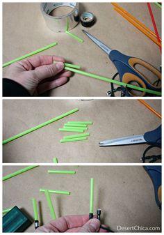 How to Make DIY Light Saber Christmas Lights