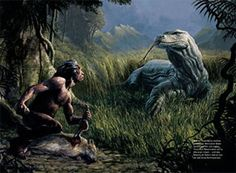 """The megalania, also known as the """"Giant Ripper Lizard"""", was a very large monitor lizard. The exact proportions of this creature have been debated, but the most recent research revealed that the megalania's length was around twenty-three feet (7m), and that it weighed approximately thirteen to fourteen hundred pounds (600-620kg), making it the largest terrestrial lizard known to have existed."""
