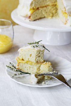 Triple Lemon Cake with Lemon-Mascarpone-Cream Cheese Frosting ¦ Katie at the Kitchen Door