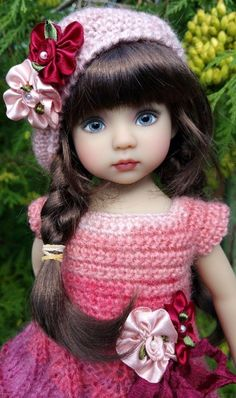 Knitting Dolls Clothes, Knitted Dolls, Beautiful Barbie Dolls, Pretty Dolls, Baby Barbie, Effanbee Dolls, Crochet Dolls Free Patterns, Cute Baby Dolls, Fairy Dolls