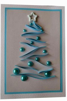 Alberi di natale Christmas trees Mini Quilling Paper Evergreen TreesGrass track between trees and bordersQuilling Christmas Cards ideas and designs. Easy Christmas Decorations, Diy Christmas Cards, Easy Christmas Crafts, Christmas Art, Christmas Projects, Handmade Christmas, Christmas Ornaments, Simple Christmas, Christmas Lights
