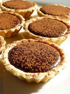 Tiny Kahlua chocolate truffle tarts