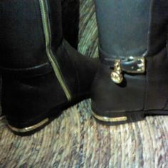 Leather Michael Kors boots Tall dark brown boots Michael Kors Shoes Over the Knee Boots