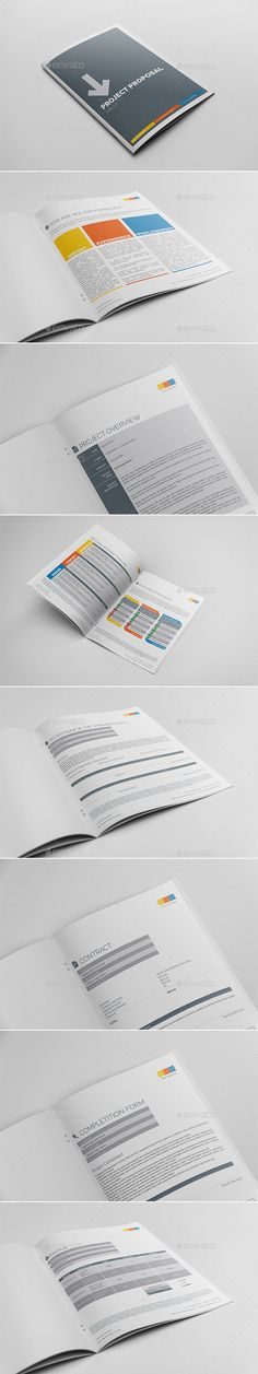 Project Proposal Template Bundle w\/ Invoice \ Contract Proposal - project contract template