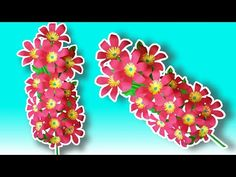 Flower Making With Paper/DIY/Flower Bunch Making With Paper - YouTube Diy Flower, Flower Making, Vj Art, Bunch Of Flowers, How To Make Paper, Craft Work, Diy Paper, Lovers Art, Paper Flowers