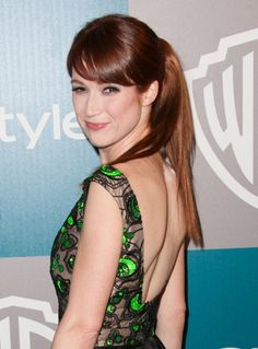 Ellie Kempers sweet and sassy ponytail hairstyle