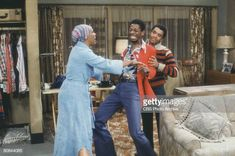 American actor Ralph Carter restrains Jimmie Walker, with help from. Good Times Tv Show, Ralph Carter, Classic Cartoons, Photo Archive, Still Image, American Actors, Black History, Potato, Tv Shows