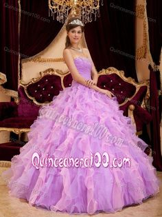 Amazing dress! | Lavender Sweetheart Ruffles Ruche Quinceanera Dress with Beading