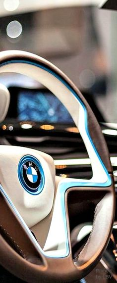 We love the steering wheel on the new i series! #BMW #i3 #electricCar