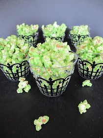 Purple Chocolat Home: Green Slimed Popcorn.   Made this today and it was GREAT!!