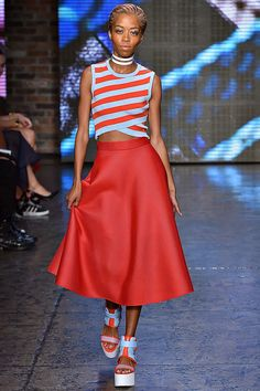 Totally cool. I want to be this girl and be good friends with this girl. DKNY Spring 2015 RTW. #nyfw #DKNY #spring2015