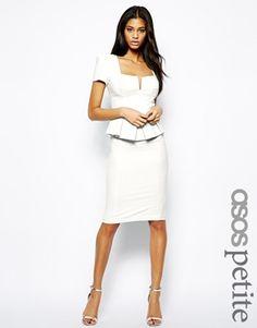 Enlarge ASOS PETITE Peplum Dress in Texture