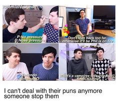 I never realized that most of the time when a pun is being made, dan is looking at Phil!