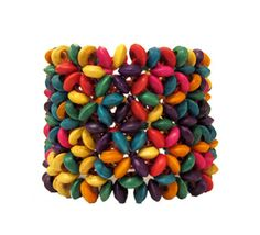 Got this one in all brown!  Colorful-Bead-Bracelet