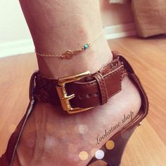 The treble clef anklet, 14K gold filled, dainty and delicate