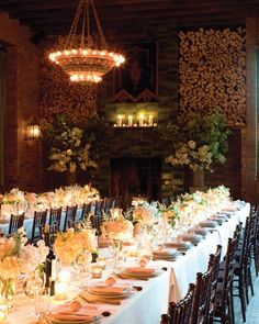 Centered on tables are low arrangements of peonies, astilbe, lisianthus, and roses set in antique Venetian glass vases loaned by friend Jes Gordon, an event planner.
