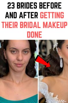 23 Brides Before And After Getting Their Bridal Makeup Done Bridal Nail Art, Bridal Makeup, Smart Casual Menswear, Lighthouse Pictures, Long Hair Video, Crochet Lace Edging, Brand Book, Makeup Transformation, Butt Workout