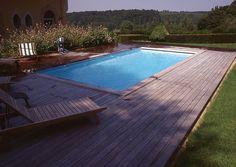 Piscine terrasse bois - Hydro Sud Maurepas (78)